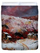 Snow In The Ardennes 78 Duvet Cover