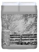 Snow In The Country Duvet Cover