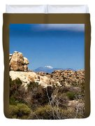 Snow In The Desert Duvet Cover