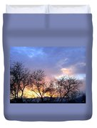 Snow In The Distance Duvet Cover