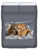 Snow Lab Duvet Cover