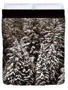 Snow-laden Forest Duvet Cover