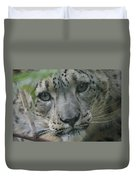 Snow Leopard 10 Duvet Cover