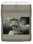 Snow Leopard 11 Duvet Cover