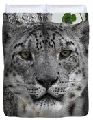 Snow Leopard 5 Posterized Duvet Cover