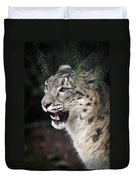 Snow Leopard Portrait Duvet Cover