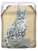 Snow Leopard - Renewed Perception Duvet Cover