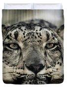 Snow Leopard Upclose Duvet Cover