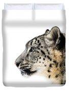 Snow Leopard Xv Duvet Cover