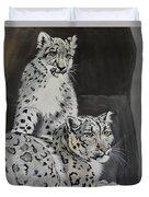 Snow Leopards Duvet Cover