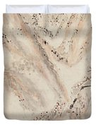 Snow Mountain Ink Painting Duvet Cover