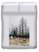 Snow On Rocks Duvet Cover