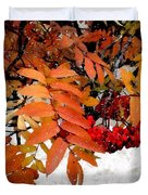 Snow On Scarlet Magick Duvet Cover