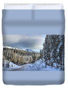 Snow On The Bow Valley Parkway Duvet Cover