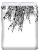 Snow On The Branches Three  Duvet Cover