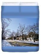 Snow On The Duke Of Gloucester Street  Duvet Cover