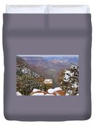 Snow On The Grand Canyon Duvet Cover