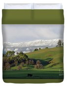 Snow On The Great Western Tiers, Tasmania Duvet Cover