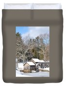 Snow On The Mill 2 Duvet Cover