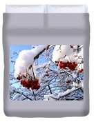 Snow On The Mountain Ash Duvet Cover