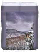 Snow On The Plateau Duvet Cover