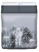 Snow On The Ridge In The Pike National Forest Duvet Cover