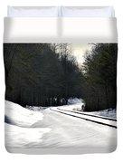 Snow On Tracks Duvet Cover