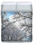 Snow On Trees Duvet Cover