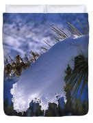 Snow Ornament - Joshua Tree Duvet Cover