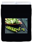 Snow Peas Or Green Peas Still Life Duvet Cover