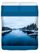 Snow River Horizon Duvet Cover