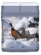 Snow Rooster Duvet Cover