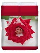 Snow Rose Duvet Cover