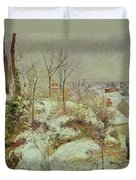 Snow Scene Duvet Cover by Camille Pissarro