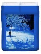 Snow Shadows Duvet Cover