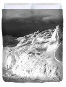 Snow Squal On Lake Michigan Duvet Cover