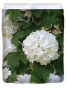 Snowball Tree With Delicate Leaves Duvet Cover