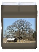 Snowcapped Tobacco Shed Duvet Cover