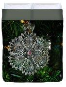 Snowcrystal Ornament 2016 Duvet Cover