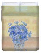 Snowdrops In A Glass Duvet Cover