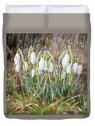 Snowdrops In The Garden Of Spring Rain 1 Duvet Cover