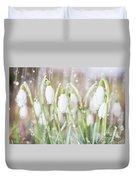 Snowdrops In The Garden Of Spring Rain 4 Duvet Cover