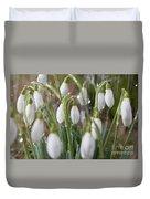 Snowdrops In The Garden Of Spring Rain 5 Duvet Cover