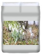 Snowdrops In The Garden Of Spring Rain 7 Duvet Cover