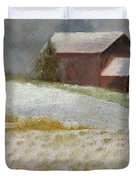 Snowfall In The Valley Duvet Cover