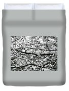 Snowfall On Branches Duvet Cover