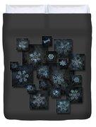 Snowflake Collage - Dark Crystals 2012-2014 Duvet Cover