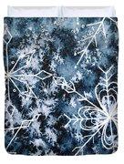 Snowflake Greetings Duvet Cover