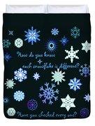 Snowflakes 2 Duvet Cover