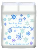 Snowflakes Duvet Cover by Methune Hively